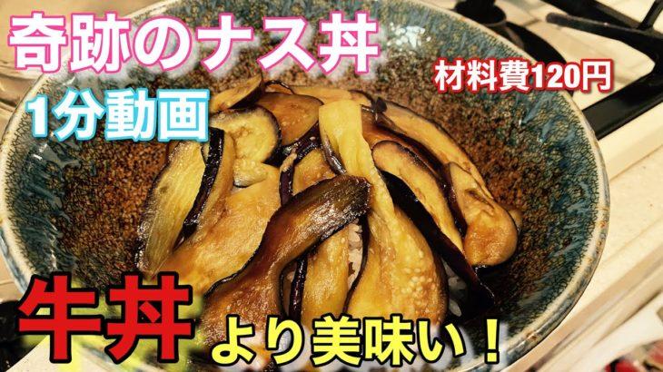 【なす料理】やみつきなす丼のレシピ!大人気作り方簡単1分で分かる!まるでプロの味!