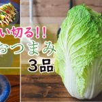 白菜を使った簡単なおつまみ3品のレシピ【宅飲み料理】