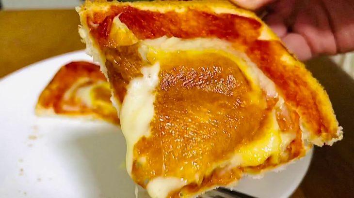 【簡単朝ごはんやおやつの献立・レシピ料理】子どもでも作れるチーズケチャップトーストの作り方と食べてみた