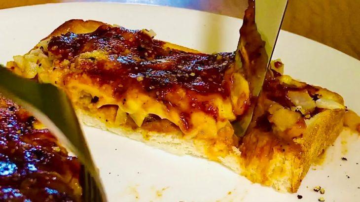 【簡単朝ごはんやおやつの献立・レシピ料理】子どもでも作れるチーズカレートーストの作り方と食べてみた