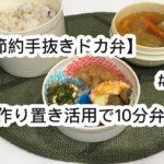 【節約手抜きドカ弁】#14 作り置き活用で10分弁当!