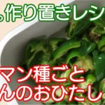 【作り置きレシピ】簡単!おいしい!電子レンジで作るピーマン料理