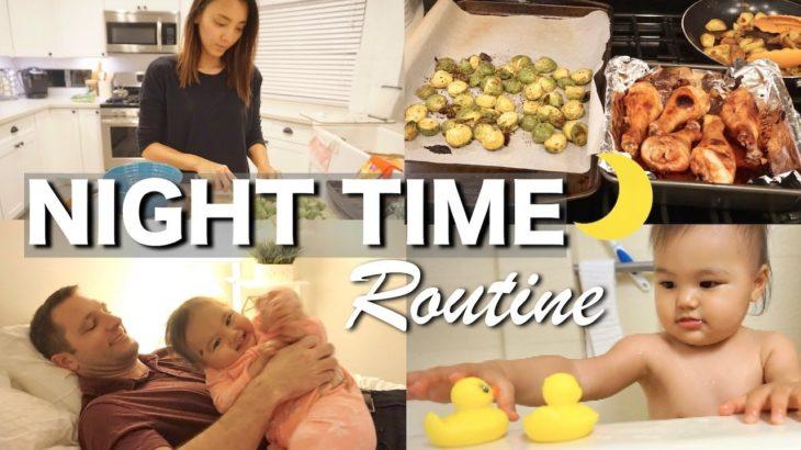 NIGHT TIME ROUTINE|最近のナイトルーティン♡ 新米ママ|アメリカ生活|子育て|国際結婚