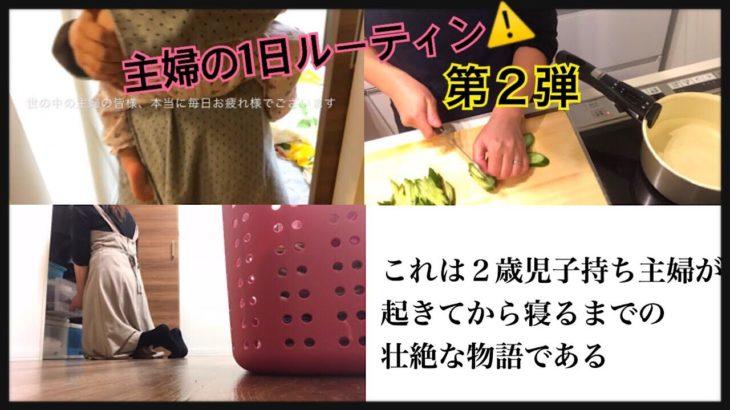【ルーティン】専業主婦・2歳児ママのとある1日に密着   〜家事・育児〜
