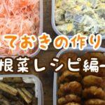 【作り置き】【常備菜】どれも簡単!根菜レシピ