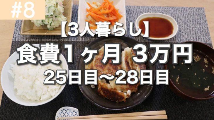 【節約料理】1ヶ月の食費3万円!今日の夕飯は?【最終回】騒がしい我が家
