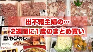 【まとめ買い】出不精主婦/4人家族/2週間分の食料