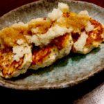 【時短レシピ!!】簡単5分 豆腐ハンバーグ 鶏肉で作っているのでダイエットにも◎ サッパリ感を出すために意外な調味料を使用!!
