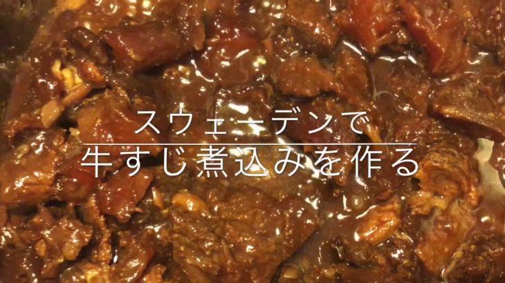 ASMR  【主婦】【北欧暮らし】スウェーデン在住節約大好き主婦の作り置き 近場のスーパーで手に入る材料で、日本食を楽しもう 牛すじ煮込み