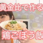 【レシピ】簡単!炊き込みご飯 あつあつでも冷めても美味しい♡ 鶏ごぼう飯 おにぎり、お弁当にも