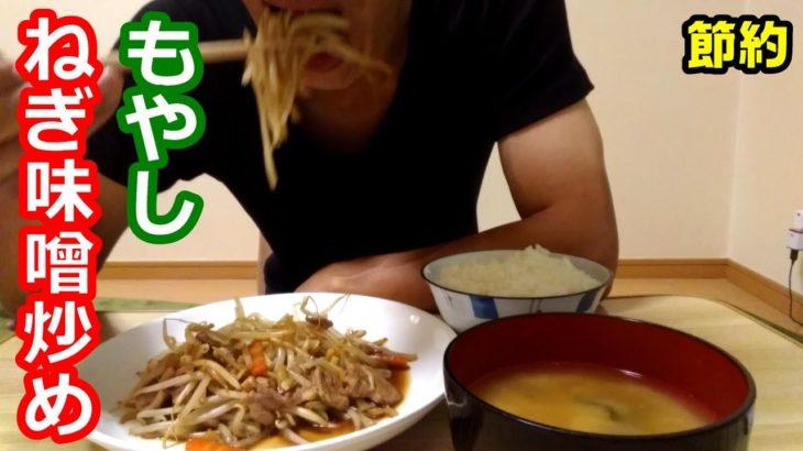 一人暮らしの料理男【簡単節約レシピ】辛くない麻婆風炒め もやしのねぎ味噌炒めの作り方 うちのごはん風