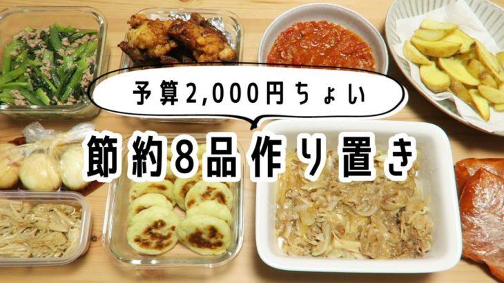 【作り置き】2,000円ちょいの食材で簡単節約レシピ【主婦】