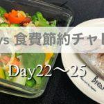 【食費節約】キリギリス嫁は毎日ごはんを作れるのか?22~25日目