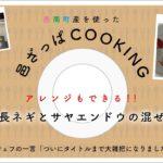 #4【料理】簡単!アレンジレシピあり!「ツナと長ねぎとサヤエンドウの混ぜたやつ」