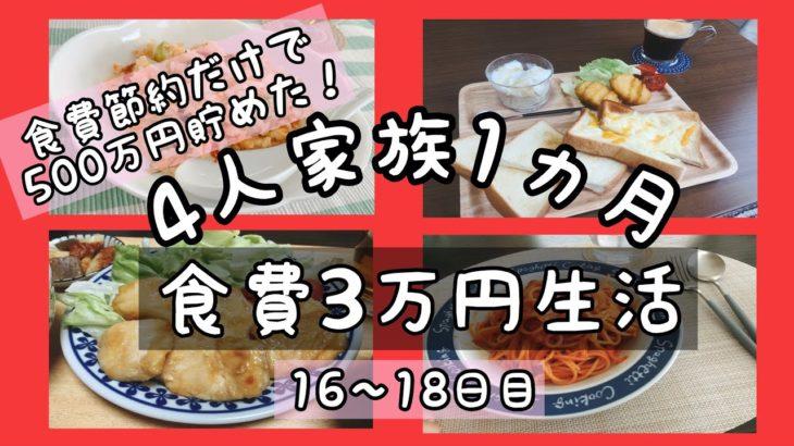 【食費節約生活】4人家族1ヵ月3万円🌷鶏ムネざんまい🐔16〜18日目【レシピ公開】