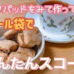 【簡単レシピ】クックパッドを参考にビニール袋でかんたんスコーン作ってみた!