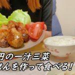 【23歳主婦が作る】ナスの豚肉巻き定食/日常vlog/節約料理