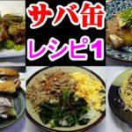 簡単!サバ缶アレンジ レシピ 料理5つMackerel arrangement recipe
