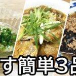 【なすレシピ】簡単に出来るおかず3品【料理動画】