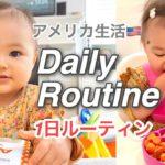 DAILY ROUTINE|1歳児の1日のルーティン♡離乳食紹介|アメリカ生活|新米ママ|子育て|国際結婚