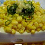 Sweet cold tofu/corn甘い冷奴・コーン 豆腐・簡単アレンジ料理レシピ 作り方