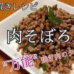 【作り置きレシピ※肉そぼろ】焼き肉のタレで作る簡単料理!ジャンで作る無添加料理
