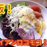 【簡単料理レシピ】ハワイアンロコモコを作ってみた!【ハンバーグ】