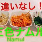 【ナムル】【黄金レシピ】【簡単おつまみ】おつまみにもおかずにもなる簡単なナムルのご紹介です♪簡単なのに本格的な味!
