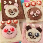 Fruity Panda Sandwich Recipe パンダのフルーツサンドイッチレシピレシピ【簡単かわいいキャラ弁の作り方】