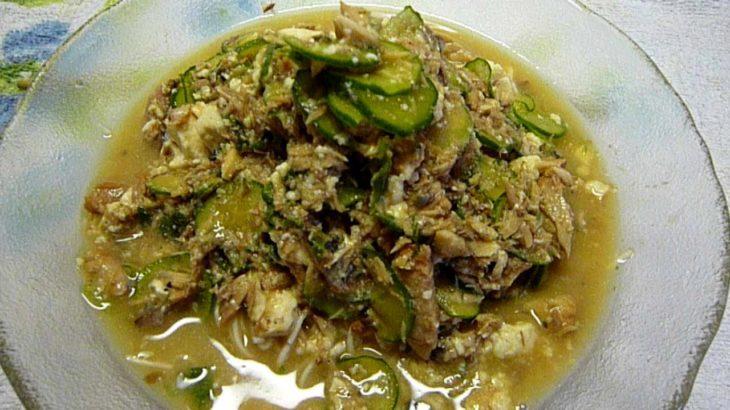 Hiyajiru somenサバ缶で時短 冷や汁素麺 簡単アレンジ料理レシピ 作り方