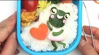 How to make Frog Bento かえる弁当レシピ【簡単かわいいキャラ弁作り方】