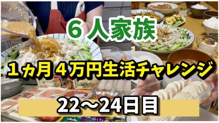 ❿【6人家族4万円生活チャレンジ】#主婦#手抜き#簡単#節約