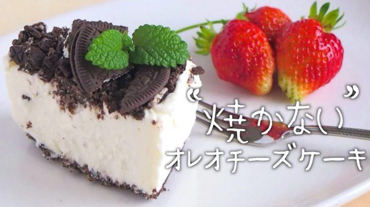 【オレオ】焼かずに混ぜるだけ!簡単チーズケーキの作り方【節約/スイーツ/お菓子】