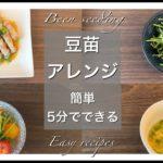 【簡単・時短レシピ】豆苗アレンジ料理4つ