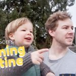 (イクメン)アメリカ人夫と息子のモーニングルーティン~週末編~    Daddy and Son's Morning Routine    海外 子育て 国際結婚    アメリカ生活