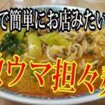 【レビュー/料理レシピ】家庭で簡単にできる激ウマ担々麺(担担麺)  Recipe DanDan Noodles