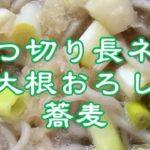 ぶつ切り長ネギ&大根おろし蕎麦!野菜たっぷりレシピ!簡単料理!金欠ご飯!節約ズボラ飯!