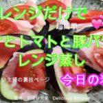 茄子料理 簡単 レシピ なすとトマトと豚バラのレンジ蒸し  秋茄子 料理 ハウツー レビュー チュートリアル プレゼンテーション 人気