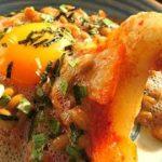 余ったお餅でキムチ納豆餅作った!簡単料理レシピ