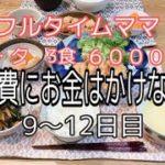 フルタイム 家族3人暮らし 節約主婦生活 1週間6000円生活 9〜12日目