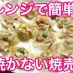 レンジで簡単 焼かない焼売 レンジ料理 簡単レシピ Microwave recipe