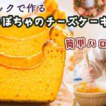 【ハロウィンの簡単お菓子レシピ】混ぜて焼くだけ!超濃厚「かぼちゃのチーズケーキ」の作り方!