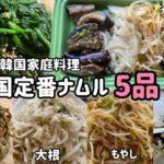 韓国家庭料理)簡単にできる!韓国定番ナムル5品レシピ