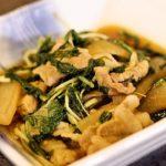 簡単!豚肉と水菜の煮物【モデル料理講師が教えるレシピ】【イケメシ】講師:小川優衣