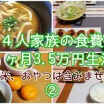 【節約】料理が苦手な主婦が1ヶ月の食費3.5万円を目指します/かさまし料理/3日目~5日目