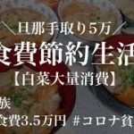 【節約生活】旦那の手取り5万|5人家族食費月3.5万円|白菜大量消費する3日間