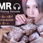 【ASMR 料理 咀嚼音】簡単!オートミールで作る チョコレート クッキー  [ブラウニー]グルテンフリー スイーツのレシピ ココナッツお菓子