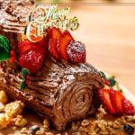 【オーブンなし】簡単ブッシュドノエルの作り方 〜Chocolate Yule Log 〜【作って楽しい!】【料理レシピはParty Kitchen🎉】
