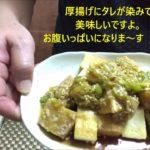 低糖質レシピ 簡単 厚揚げの油淋鶏