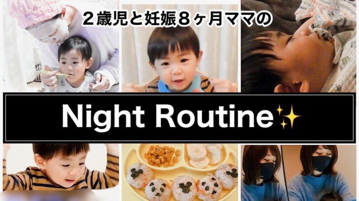 【ナイトルーティン】2歳の息子と妊娠8ヶ月ママ|夕方〜寝かしつけまでの過ごし方